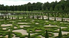 Boxwood garden Frederiksborg HD Stock Footage