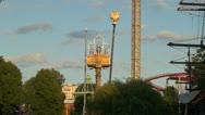 Ride amusement park HD Stock Footage