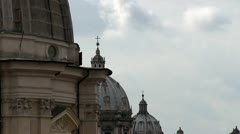 Rome, Italy, dome Stock Footage