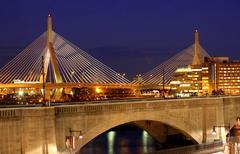 Boston Zakem Bunker Hill Bridge / Skyline Stock Photos