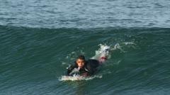 Surfers puerto escondido mexico Stock Footage