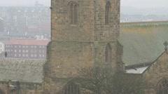 Church in Mist Stock Footage