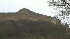 Medieval Castle Walls Stock Footage