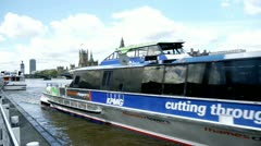 London Thames clippers boat - stock footage