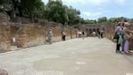 Villa Adriana Tivoli Stock Footage