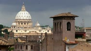 Stock Video Footage of Vatican, Saint Peter Basilica in Rome