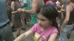 Innoissaan tyttö hauskaa Dancing Arkistovideo