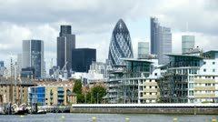 The Gherkin London Southbank - stock footage