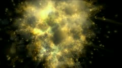 Explosion particle mist gas steam smoke fire hot energy fireworks background. Stock Footage