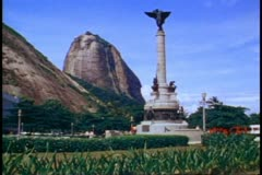 Rio de Janeiro 1982, Sugar Loaf Mountain, background, park and column in Stock Footage