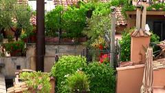Roof garden Stock Footage