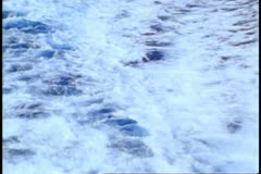 Atlantic Ocean wake off ship, close, zoom out wide, sea only, no ship or land Stock Footage
