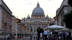 Saint Peter Basilica, Vatican Stock Footage