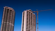 Building Under Construction Stock Footage