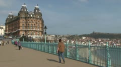 Scarborough Victorian Resort Stock Footage