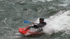 Kayak whitewater Stock Footage