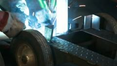 Welding steel industrial equipment P HD 0286 Stock Footage