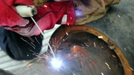 Welding Sparks Stock Footage