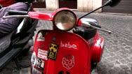 Vespa bike Stock Footage
