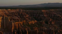 Bryce Canyon time lapse 03 Sunrise - stock footage