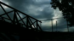 Horror Scene - Wooden Bridge - stock footage