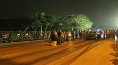 Street car racing mexico Stock Footage