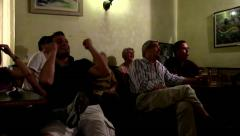 Football public viewing Stock Footage