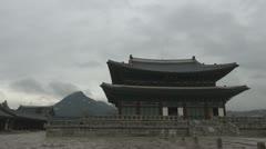 Geunjeongjeon Hall, Gyeongbokgung Palace, Seoul, South Korea Stock Footage