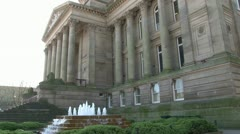 City Hall Fountain Stock Footage