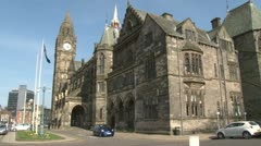 Rochdale Town Hall Stock Footage