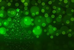 Stock Illustration of christmas  tree on green