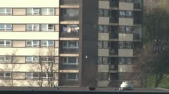 Tower Block Apartments Stock Footage