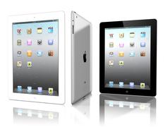 the ipad, the digital tablet with multi touch-screen - stock illustration