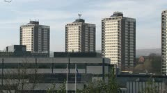 Tower Blocks Stock Footage