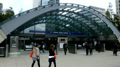 Canary Wharf Tube Station Stock Footage