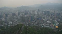 Ilmakuva Soul hämärässä, Etelä-Korea Arkistovideo