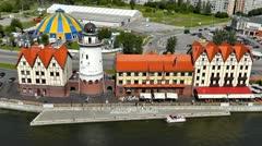 Fishing village in Kaliningrad. Russia Stock Footage