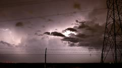 Powerful Lightning Storm Time Lapse Stock Footage