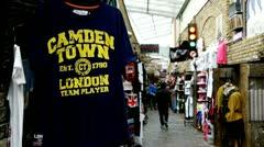 Camden Market, London Stock Footage