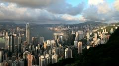 China, Hong Kong, T/L cityscape Stock Footage