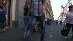 Via etnea, Central catania street, sicily, italy. Stock Footage