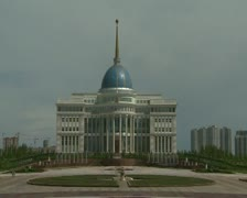 Stock Video Footage of Astana, residence of President of Kazakhstan
