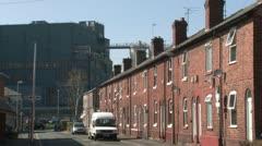 Industrial Town Scene Stock Footage