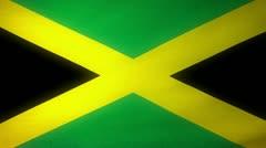 Flag Jamaica 04 Stock Footage