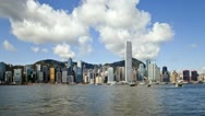 Stock Video Footage of China, Hong Kong, T/L cityscape