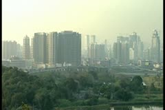 Hong Kong modern city pan right by DJM Stock Footage