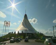 Astana, Khan Shatyr Stock Footage