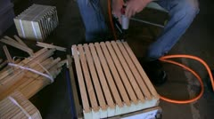 Beekeeping, frame assembly Stock Footage