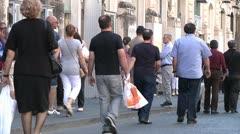 Walking pedestrians in Soutern Europe. Stock Footage