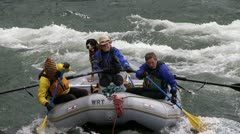 Rafting whitewater Stock Footage